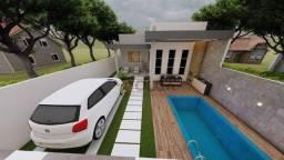 Título do anúncio: Casa com área gourmet e piscina privativa, à venda, 115 m² por R$ 370.000 - Gravatá/PE