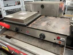 Chapa com prensa elétrica 70cm usada - JM equipamentos