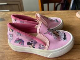 Sapato infantil sapato da minnie número 22
