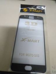 Título do anúncio: Película de vidro para celular Moto G5S, preto.