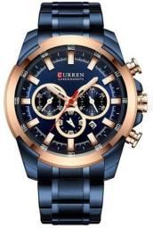Relógio Curren 8361 Azul Original - Novo, Nota fiscal, Parcela sem juros