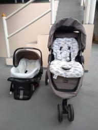 Kit carrinho e bebê conforto Britax