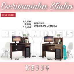Escrivaninha Studio (com rodinhas e corrediças metálicas)