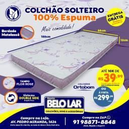 Colchão Ortobom Solteiro De Espuma, Compre no zap