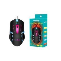 Título do anúncio: Mouse Com Fio Gamer USB Weibo M-39 - Luzes