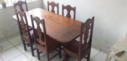 Mesa de Angelim com 6 Cadeiras
