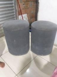 2 pares de puf