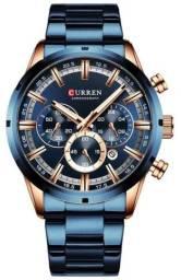 Relógio Curren 8355 Azul Original - Novo, Nota fiscal, Parcela sem juros