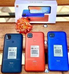 Redmi 9C 64Gb Cinza/Laranja/Azul