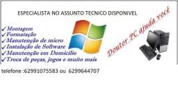 manutenção preventiva e corretiva de informatica,formatação,instalação,backups