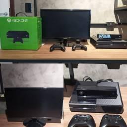 X BOX ONE COMPLETO + MONITOR SAMSUNG 24 POLEGADAS