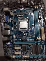 Placa mãe 1155  h61m s1 defeito pino do soquete torto processado i3  3220 funcionando