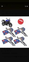 Vela Iridium ngk cr9eix valor unitário para motos Yamaha Suzuki Kawasaki