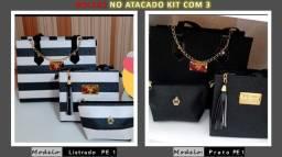 Bolsas - Vendo bolsas no atacado e varejo (kit com 3 bolsas)