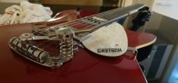 Guitarra Gretsch G5421 Electromatic Jet Club Firebird Red + Tremolo Duesenberg Les Trem II