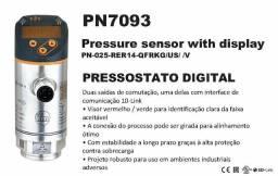 Pressostato Eletrônico Digital Pn7093 0-25 bar Marca Ifm