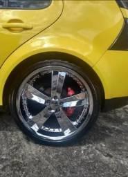 Rodas cromadas aro 20 com pneus