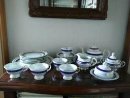 Jogo de chá de porcelana Schmidt da década de 50