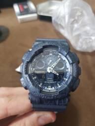 Relógio Original Casio G-shock GA-100CG-2ADR Azul Escuro Militar