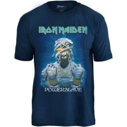 Camisas de bandas de rock - Iron Maiden, Metallica, Nirvana, AC/DC e muito mais