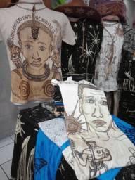 Camisas pintadas à mão
