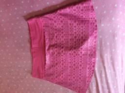 Shorts saia lindo Rosa!!!
