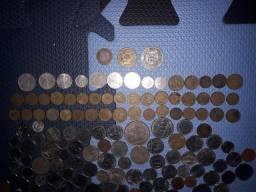 Coleção moedas e cedulas antigas