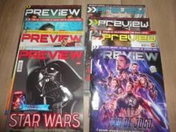 Lote 9 Revistas Preview - Cinema Editora Sampa / Mythos