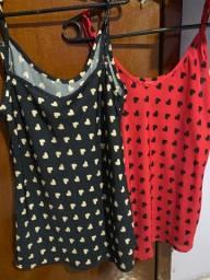 Duas blusas por 40 nunca usada