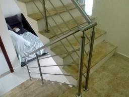 Corrimão de escada e Guarda corpo em Aço inox
