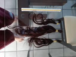 Cabelo humano liso - 30cm - 70g