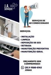 Instalação e limpeza de ar