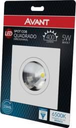 Spot Quadrado/Redondo Embutir Direcionável 5w Led Branco Frio/Branco Quente
