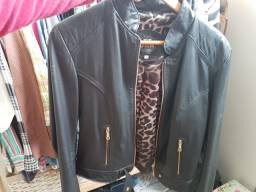 Jaqueta feminina de couro DMR (couro legítimo) - de Gramado-RS