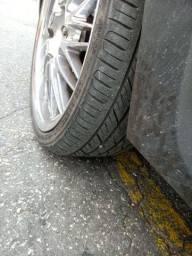 Troco rodas aro 20 4 furos com pneus por rodas aro 17 do stilo com pneus