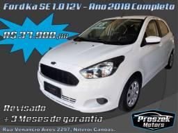 Ford Ka SE 1.0 12V - Ano 2018 Completo