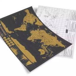 Mapa mundi raspadinha - viagens