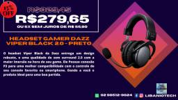 Headset Gamer Dazz Viper Black 2.0 - Preto