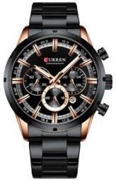 Relógio Curren 8355 Preto Original - Novo, Nota fiscal, Parcela sem juros