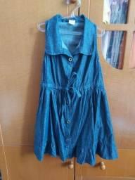 3 vestidos infantis de 6 a 8 anos