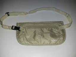 Pochete bolsa invisível para viagem, cor bege-BAGGAGIO.