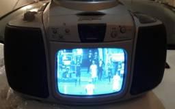 Raridade Televisão Portátil Tv + Rádio Lenoxx (acompanha conversor)