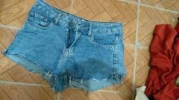 Vendo short jeans, tamanho 37, short cintura alta