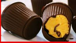 Vendo trufas de chocolate com recheio de sorvete