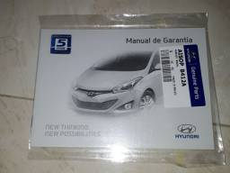 Título do anúncio: Manual de revisão e garantia Hyundai hb20 2012 a 2016