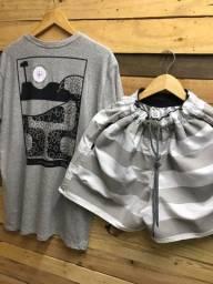 01 short + 01 camiseta por R$ 50 no dinheiro