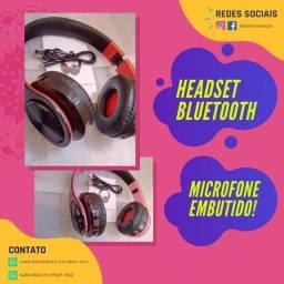 Headset sem fio Bluetooth FM/Microfone/Cartão SD