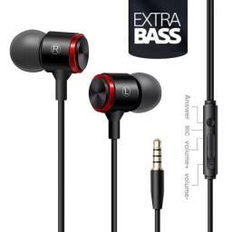 s320 fone de ouvido extra bass alta fidelidade 3.5mm sport graves aprimorados