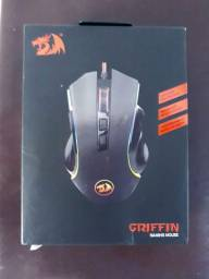 Mouse RGB Gamer Redragon Griffin M607 Original com NF