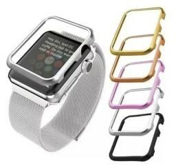 Capa Case + Puceira Bumper Metal Magnético Para Apple Watch De 40,42,44mm.